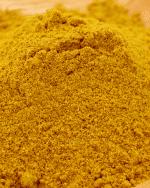 gros plan curry indien doux etal des epices