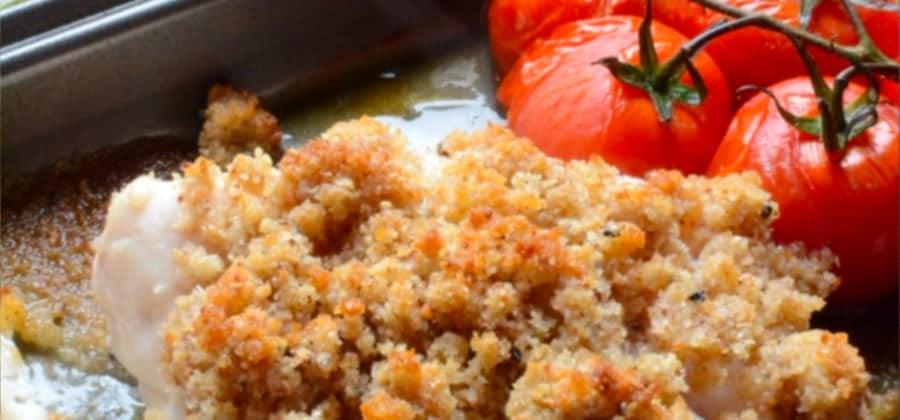 recette dos de lieu noir crumble sesame noir et wasabi
