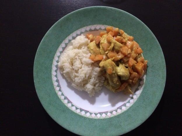 Curry de dinde et carottes