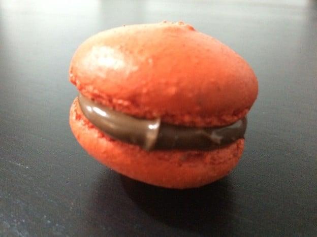 Macaron au chocolat et speculoos