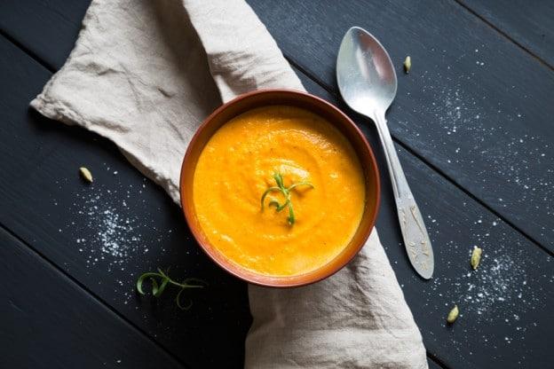 Soupe de carotte épicée