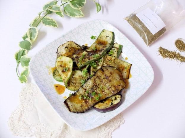 Légumes grillés au mélange libanais