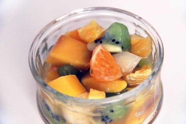 Salade de fruits d'hiver verveine gingembre