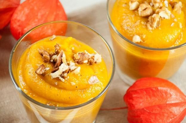 Soupe de potiron et carottes aux épices cajun