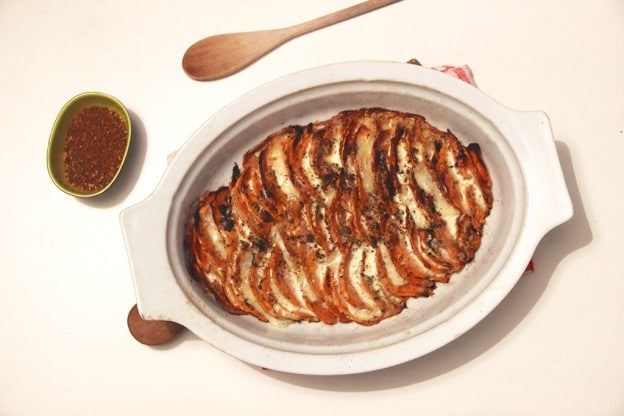 Tian de patates douces au brebis et épices cajun