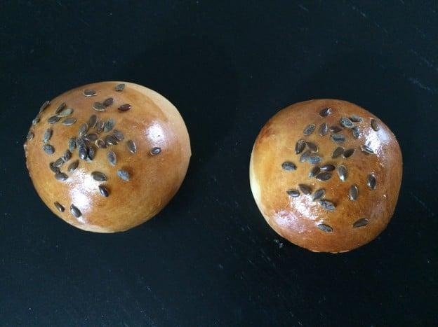 Mini pain hamburger aux graines de lin