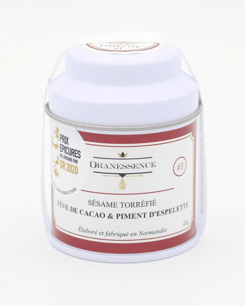 gomashio feve cacao piment espelette oranessence