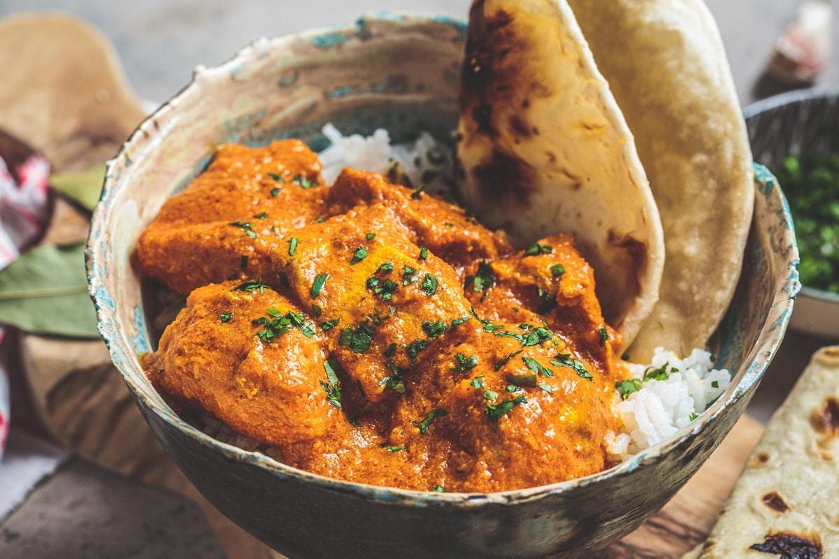recette poulet curry madras bio