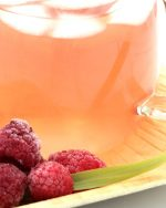 verre infusion framboise glacee